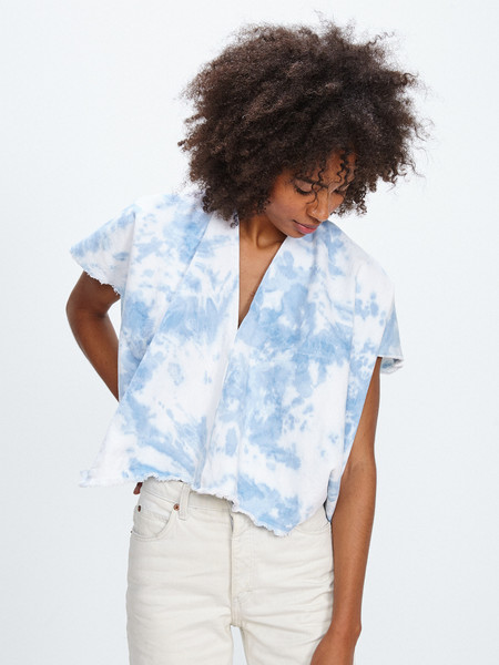 Miranda Bennett EVERYDAY TOP / INDIGO ARASHI DENIM