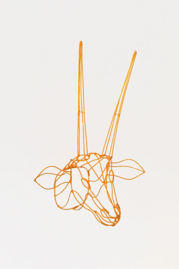 7 on Locust Wire Antelope Head - Yellow