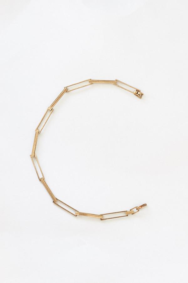 Samma Brass Short Necklace