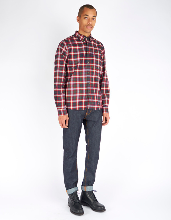 Men's Fjallraven Stig Flannel Shirt Ox Red