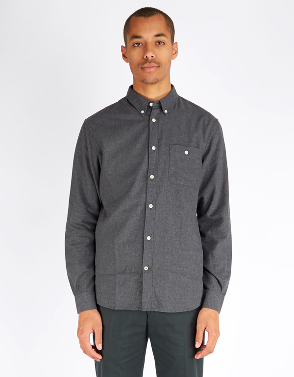 Men's No Nationality New Derek LS Flannel Shirt Slate