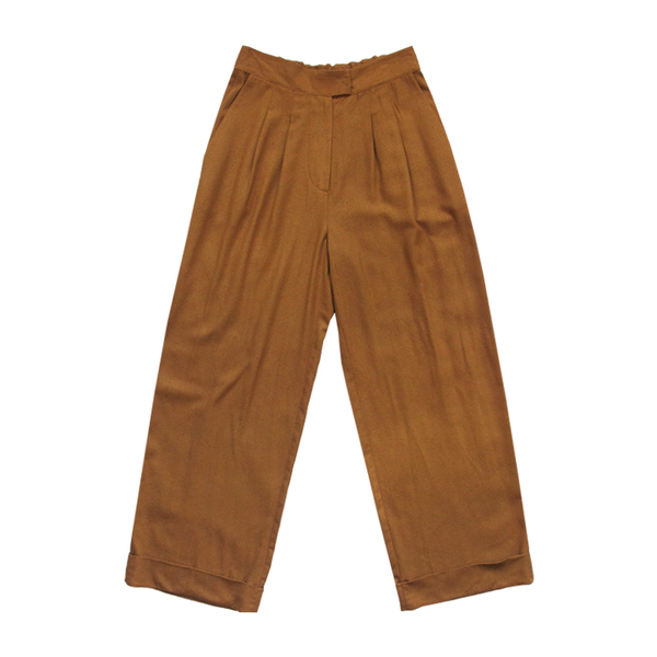Ali Golden ROLL-CUFF PANT - RUST
