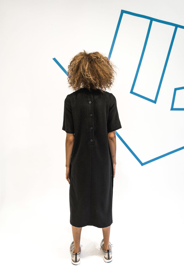 Wolcott : Takemoto Hamlet Dress - Black