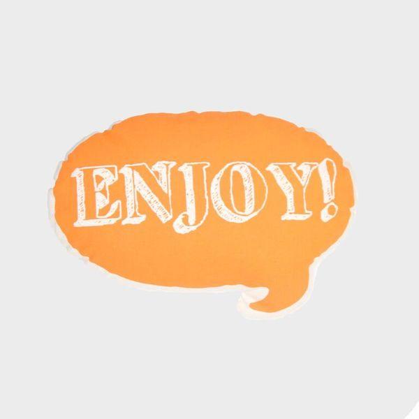 Ah, Quel Plaisir! Orange Enjoy Pillow - Dodo Les Bobos
