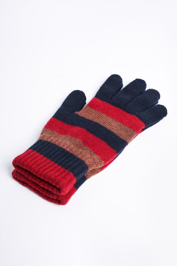 Men's Oliver Spencer Ola gloves in Caramel Multi