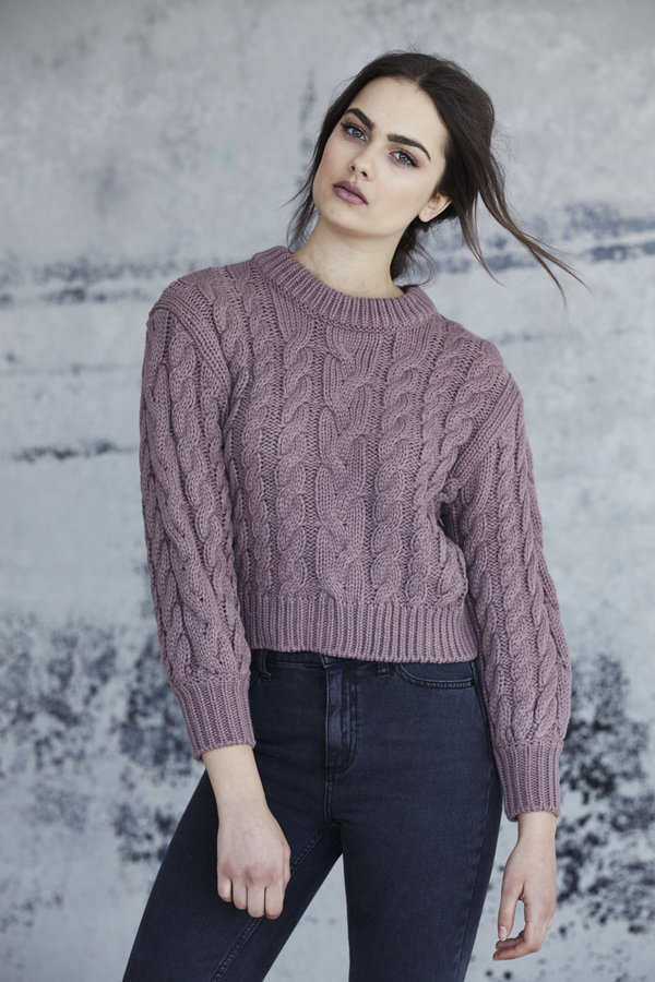 Callahan Braid Crop Sweater