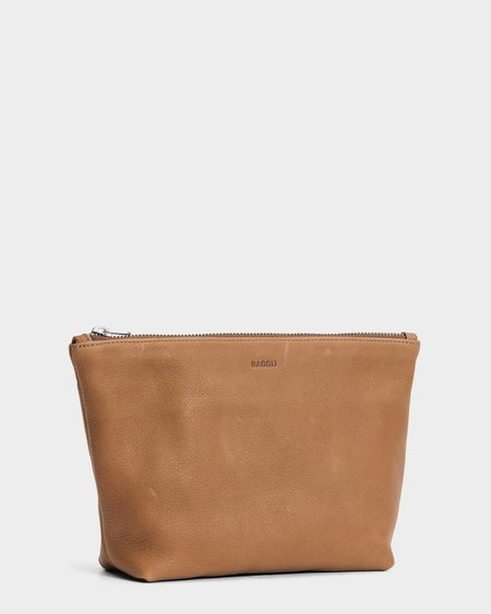 Baggu Stash Clutch Medium - Saddle