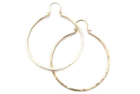 "Silversheep Jewelry 2"" Hammered Hoops"