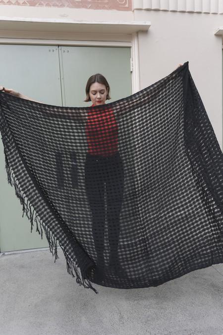 Mexchic Wabi-Sabi Blanket in Jet Black