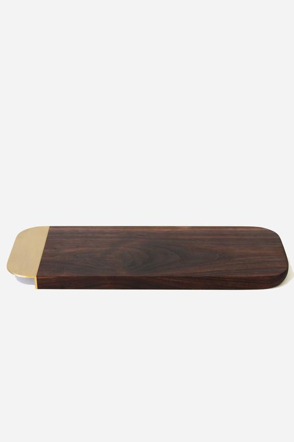 Elijah Leed Large serving tray in walnut