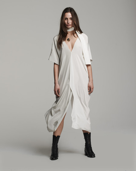 VOZ Silk Two-Panel Dress