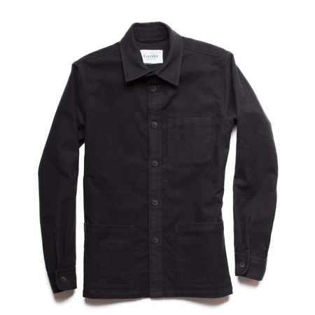 Men's Corridor Black Felted Overshirt