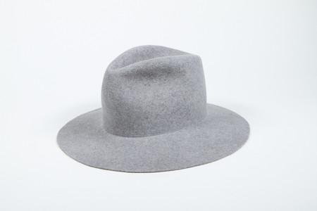 Clyde Pinch Hat in Heather Grey Wool