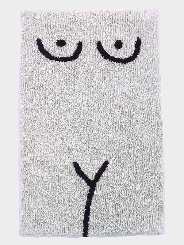 Cold Picnic Private Parts Torso Bath Mat