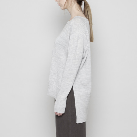 7115 by Szeki Exposed Seams Sweater - Light Gray FW16