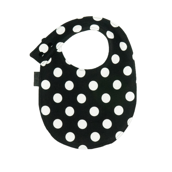 même Black Bibs and Pacifier Clips Set
