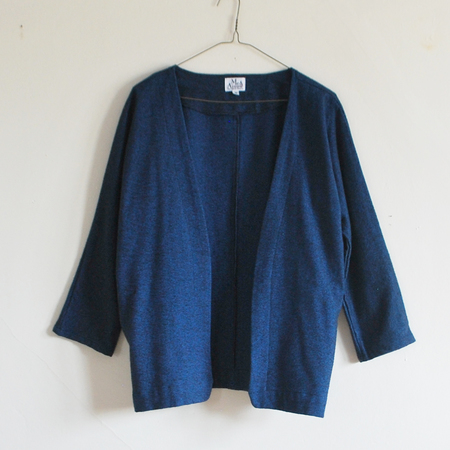 Me & Arrow Cardi Jacket - Fuzzy Heather Navy
