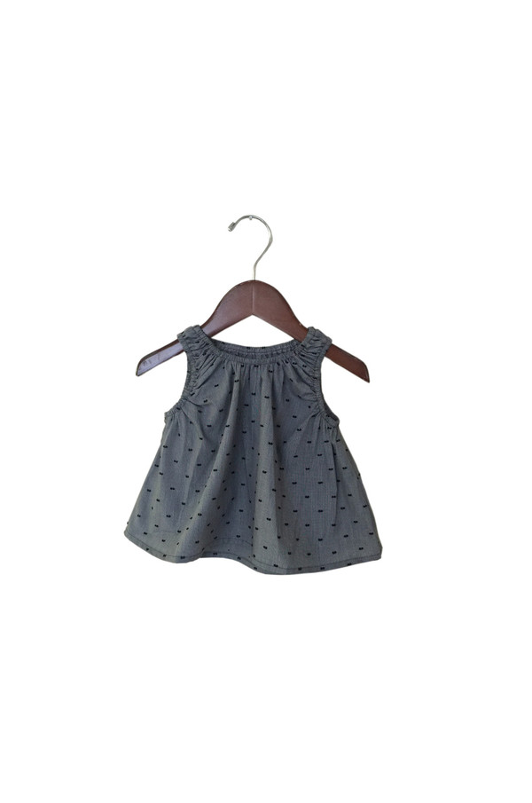 Kid's Boy+Girl Poppy Top - Black Dot