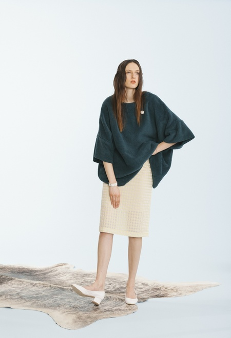 Carleen Big Fuzzy Sweater - Pine
