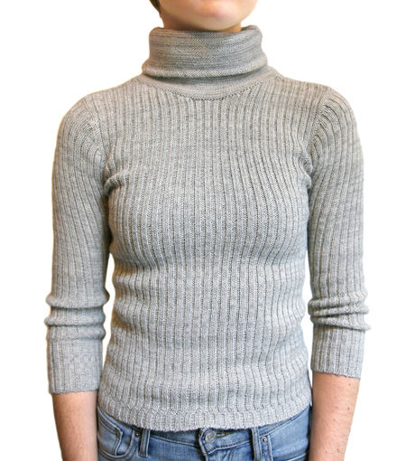 été noir ribbed lightweight turtleneck