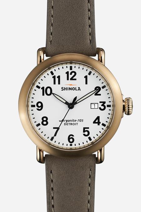 Shinola The Runwell 41mm in White & heather grey