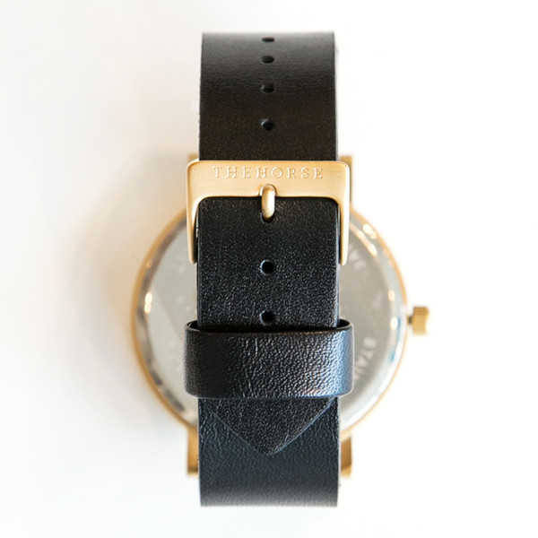 The Horse Original A7 Brushed Gold Black Band