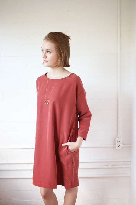 Curator Tundra Dress in Rust - one left!