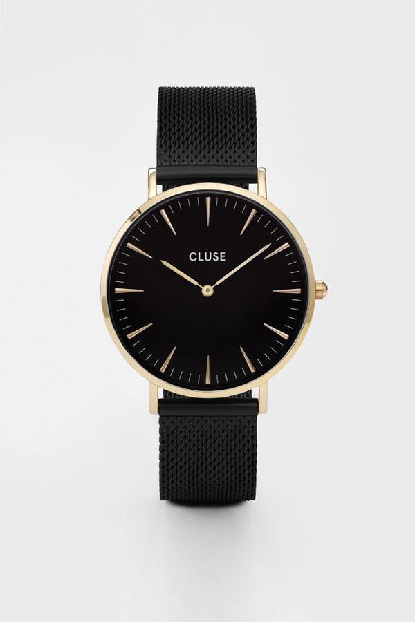 CLUSE WATCH La Boheme Mesh Gold Black/Black