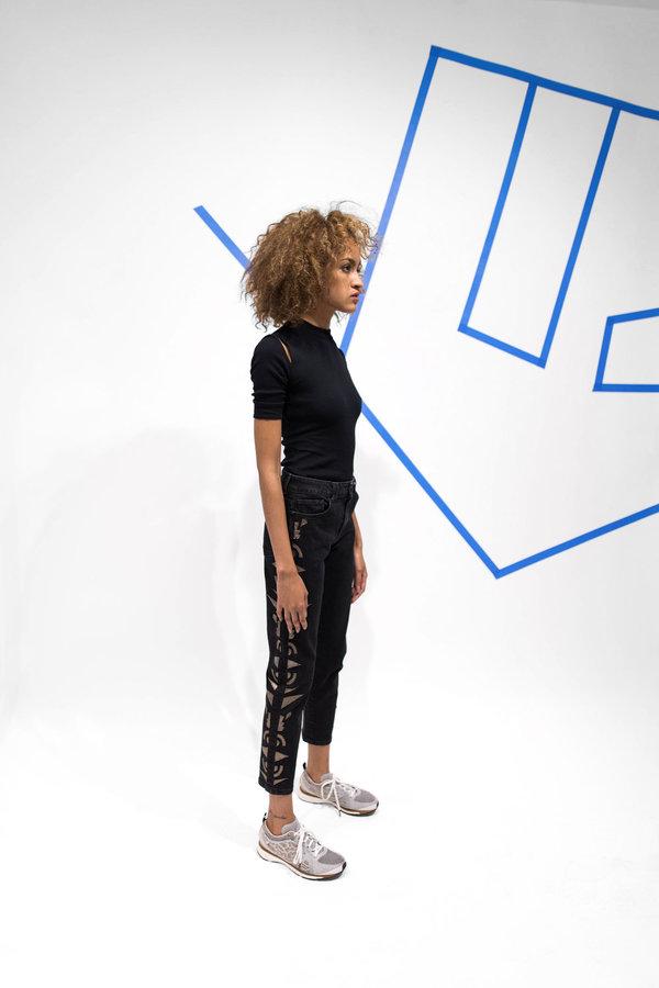 Alyssa Less Patti Slim Straight Leg - Coal Sunburst