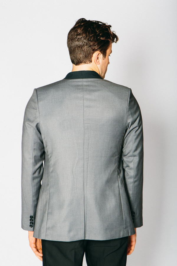 Men's Any Old Iron Classic Cashmere Blend Blazer - Grey