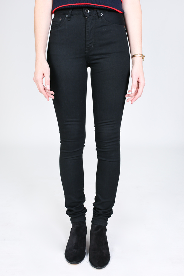 Raleigh Denim Workshop Haywood high rise skinny in black rinse