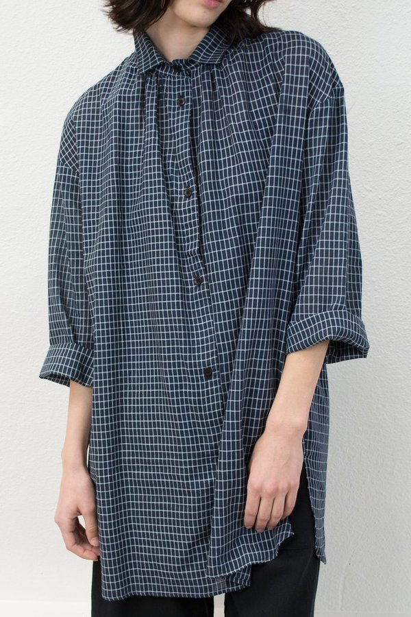 Micaela Greg Long Sleeve Button Up - Grid