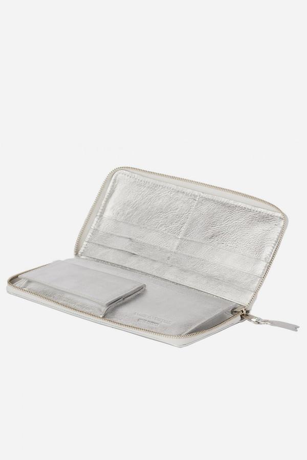 Comme des Garçons Leather SA-0110G Wallet - Silver