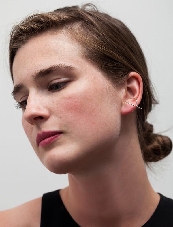 Medley Institute Double Orbit Ear Cuff Silver