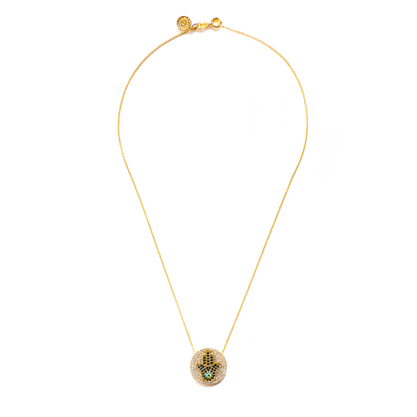 Blee Inara Gold Hamsa Necklace