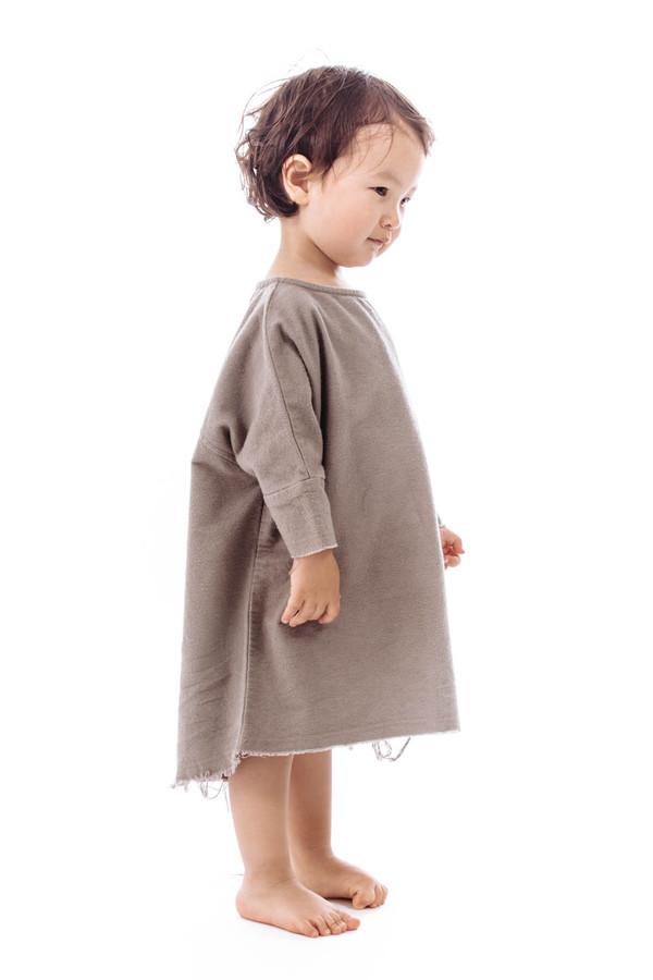 Black Crane Kids Painter Dress (Cement)