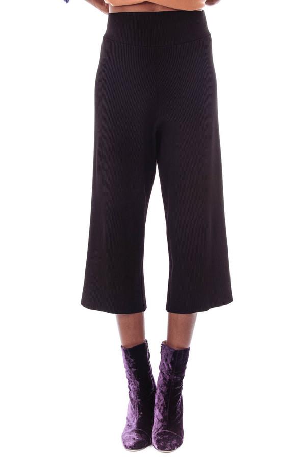 Nanushka Mosso Knit Culottes (Black)