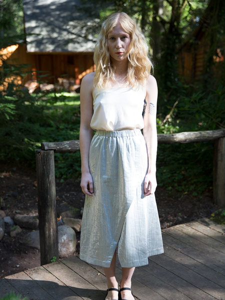 Wray Silver Geometry Skirt