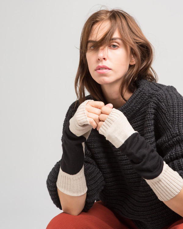 Micaela Greg Dot Fingerless Gloves