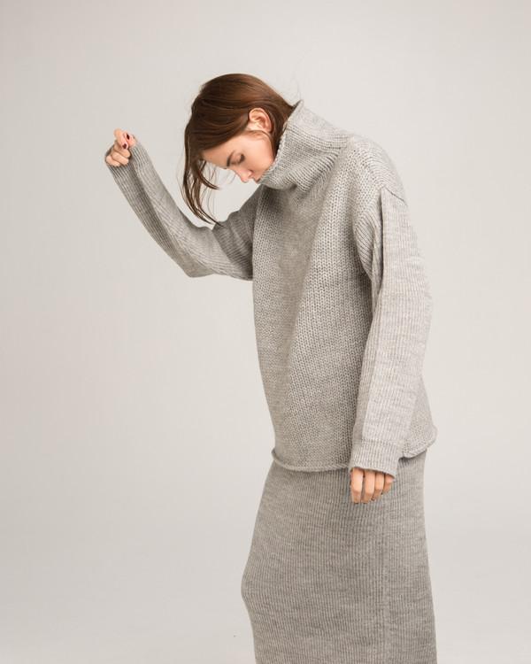 Micaela Greg Funnel Neck Alpaca Sweater