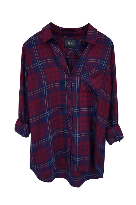 Rails Hunter Button Down - Oxblood & Navy
