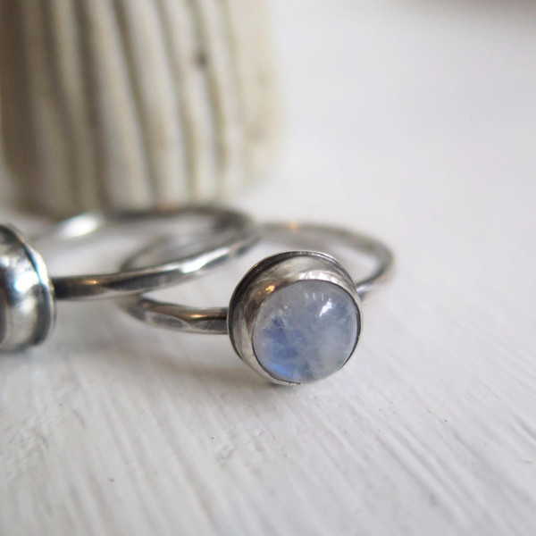 Gem spell Moonstone Stacker Ring