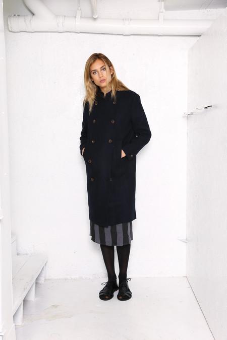 Intentionally Blank HOUSTON military coat Navy wool