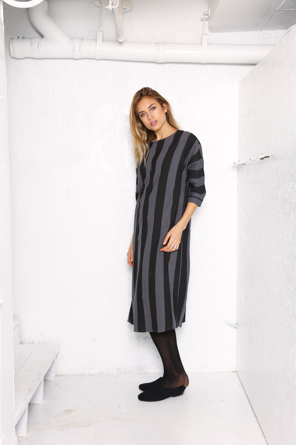Intentionally Blank JOPLIN dress in Blk/Gry