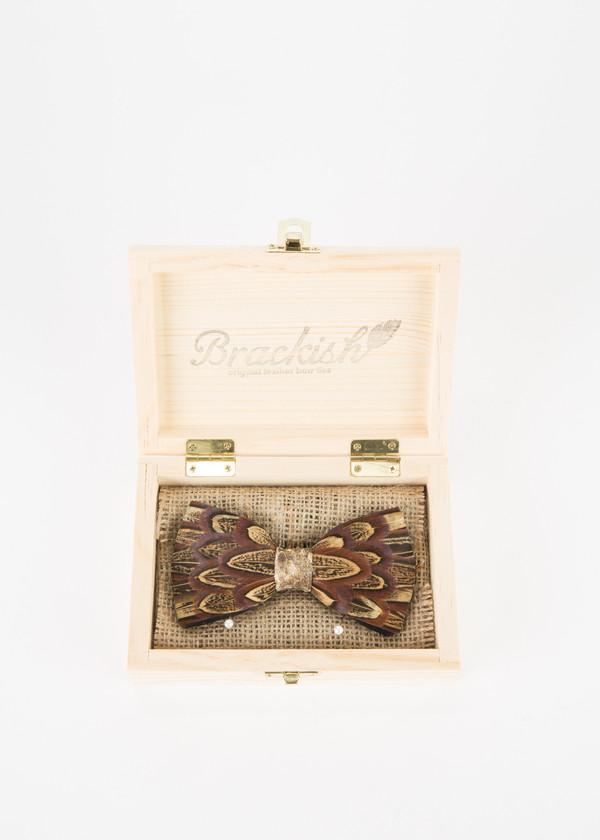 Men's Brackish Pheasant with Snakeskin Bow Tie