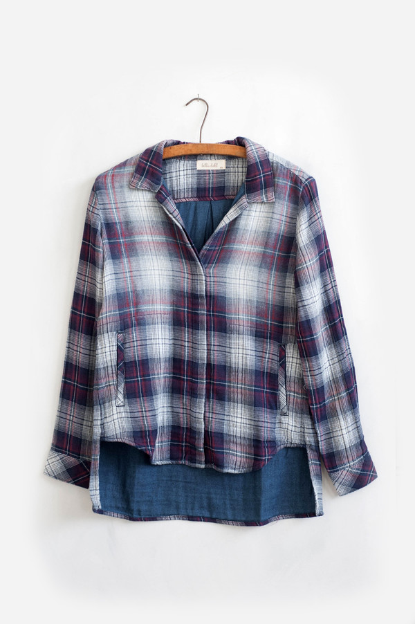 Bella Dahl Welt Pocket Button Down
