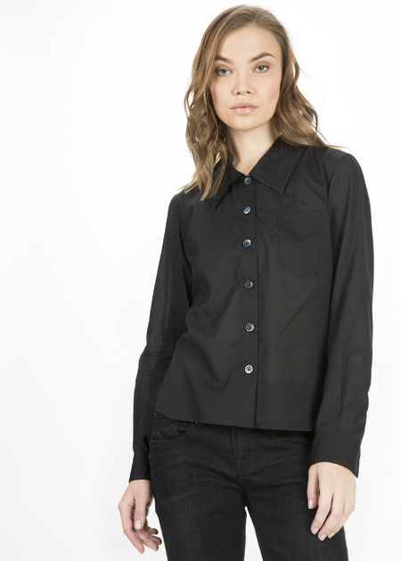 Margaret Howell Low Collar Button Up Shirt