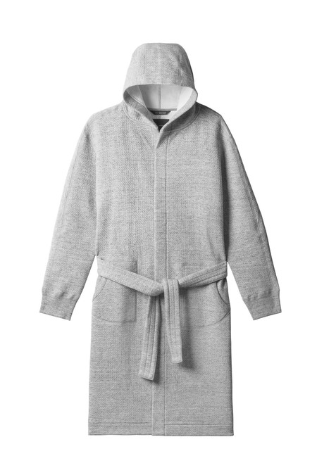 Wings + Horns Cabin Fleece Robe - Heather Grey