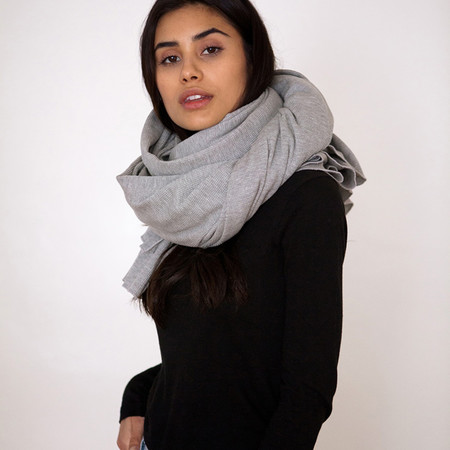 Donni Charm Thermal Blanket Scarf - Heather Grey