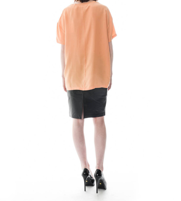 Won Hundred Apricot Nectar Tab Woven T-Shirt